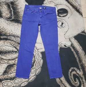 J crew toothpick ankle jeans purple skinny 29